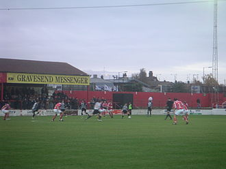 Ebbsfleet United F.C. - Ebbsfleet United v. Stafford Rangers at Stonebridge Road, November 2007