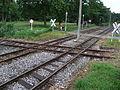 Straßenbahnkreuzung und Haltestelle in Krefeld - DSCF1611.JPG