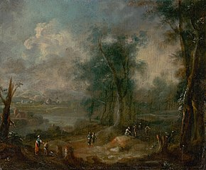 Romantic Landscape with Figural Staffage