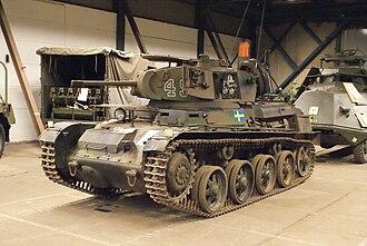 Landsverk L-60 - Stridsvagn m/40K at the Hässlehoms Museum, Sweden