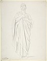 Study of an Apostle, for the painting of the Ascension in Saint-Germain-des-Pres, Paris (1839-1863) MET DP806394.jpg