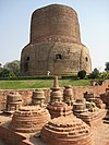 Stupas around the Dhamekh Stupa, Sarnath.jpg