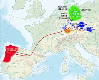 Suebi - Suebic migrations across Europe.