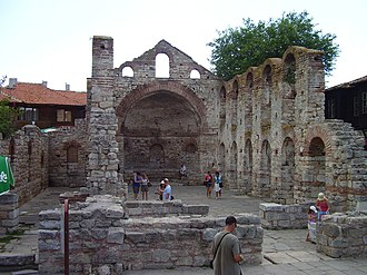Hagia Sophia Church, Nesebar - Image: Sunny Beach Nesebar centre 23