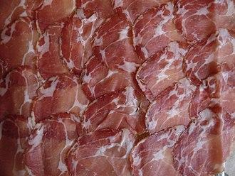 Capocollo - Sliced sweet capocollo