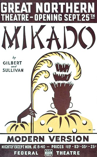 The Swing Mikado - Poster for the opening of The Swing Mikado on September 25, 1938
