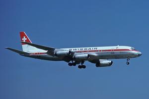 Swissair DC-8-62 HB-IDE ZRH Jun 1977.png