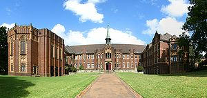 Wesley College, University of Sydney - The main entrance and buildings of Wesley College