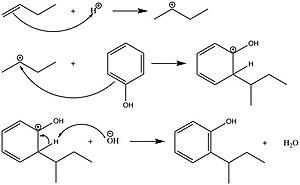 Dinoseb - Image: Synthesis of dinoseb step 1