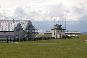 Sywell Aerodrome Tower and Hangars