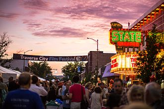 Traverse City Film Festival - 2015 TCFF Opening Night downtown Traverse City
