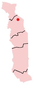 Location of Kandé in Togo