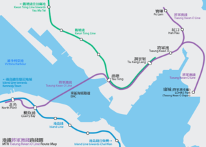 Tseung Kwan O Line - Geographically accurate map of the MTR Tseung Kwan O Line