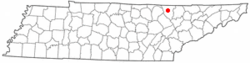 Location of Helenwood, Tennessee