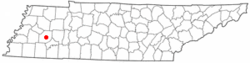 Location of Jackson, Tennessee