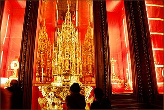Corpus Christi (feast) - Silver-gilt Corpus Christi monstrance of Toledo, Spain