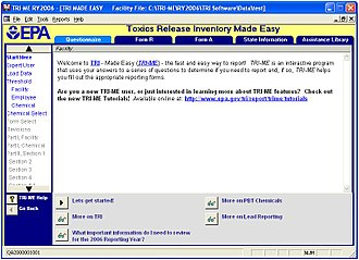 Toxics Release Inventory - TRI-ME, the TRI computer reporting program