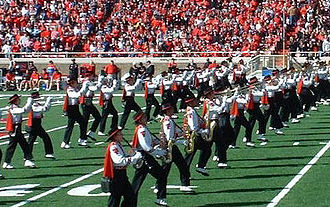 Goin' Band from Raiderland - Texas Tech's Goin' Band from Raiderland on the field at a football game vs. Baylor in 2006