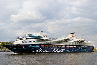 Marella Explorer - Marella Explorer as Mein Schiff at the Port of Hamburg prior to entering service with TUI Cruises.