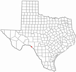 Location of Amistad, Texas