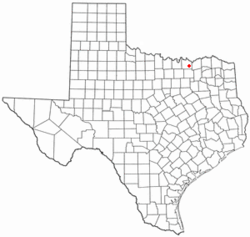 Location of Tom Bean, Texas