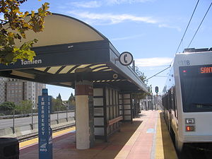 Tamien Station - The light rail platform at Tamien