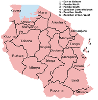 Regions of Tanzania.
