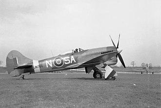 No. 486 Squadron RNZAF - Tempest V Series 1 JN766 of 486 Sqn. April 1944. Pilot may be Flt Lt. William Miller of Invercargill.