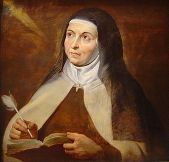 Christian meditation - Saint Teresa of Avila depicted by Rubens, 1615. She is often considered one of the most important Christian mystics.