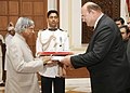 The Ambassador of Hungary to India, Dr. Geza Palmai presented his credentials to the President, Dr. A.P.J. Abdul Kalam at Rashtrapati Bhavan, in New Delhi on May 22, 2007.jpg