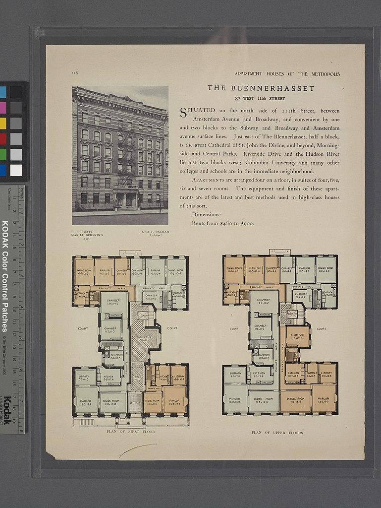 Filethe Blennerhasset 507 West 111th Street Plan Of First Floor Schematic Diagram 7230 5428 Pixels