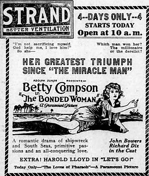 The Bonded Woman -  Newspaper advertisement.