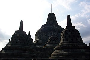 Anastylosis - One of the earlier examples of anastylosis: the Borobudur in Java, Indonesia