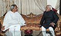 The Chief Minister of Orissa, Shri Naveen Patnaik meeting the Vice President, Shri Mohd. Hamid Ansari, at Bhubaneswar in Orissa on March 01, 2012.jpg