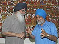 The Chief Minister of Punjab, Sardar Prakash Singh Badal meeting with the Deputy Chairman, Planning Commission, Shri Montek Singh Ahluwalia to finalize Annual Plan 2007-08 of the State, in New Delhi on May 31, 2007.jpg