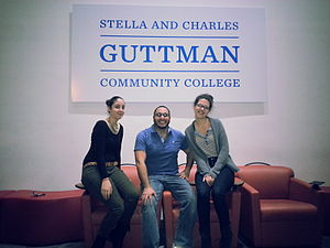Guttman Community College - Three members of the founding class of Guttman Community College