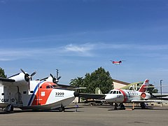 "The HU-16 ""Albatross"" and HU-25 ""Guardian"" on display at the Aerospace Museum of California.jpg"