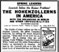 The Hohenzollerns in America -newspaper ad.png
