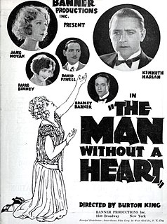 <i>The Man Without a Heart</i> 1924 silent film