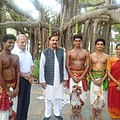 The Minister of State for Culture (Independent Charge), Tourism (Independent Charge) and Civil Aviation, Dr. Mahesh Sharma with the students of Kalakshetra, Chennai of Union Ministry of Culture.jpg
