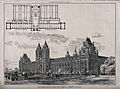 The Natural History Museum, South Kensington; plan, above, a Wellcome V0013596.jpg
