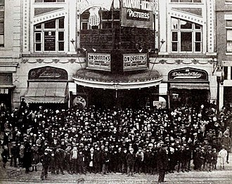 Butte, Montana - Patrons at a matinee of The Phantom Foe at the American Theater, December 25, 1920.