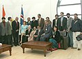 The President of Iceland Mr. Olafur Ragnar Grimsson and Madam Grimsson interacted with the media delegation who are accompanying the President Dr. A.P.J Abdul Kalam for four nations trip at Reykjavik in Iceland on May 31, 2005.jpg