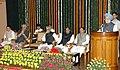 The Prime Minister, Dr. Manmohan Singh addressing at the farewell function in honour of the former Chairman, Rajya Sabha, Shri Bhairon Singh Shekhawat, in New Delhi on August 07, 2007.jpg