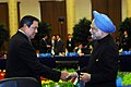 The Prime Minister, Dr. Manmohan Singh with the President of Indonesia Mr. Susilo Bambang Yudhoyono before the 2nd Plenary Session of 7th ASEM Summit, in Beijing, China on October 25, 2008.jpg