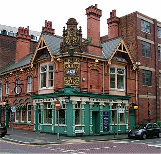 The Moody Blues - A Mitchells & Butlers brewery pub in Birmingham, pictured 2005—a possible sponsorship from the brewery never materialised