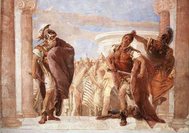 The Rage of Achilles, by Giovanni Battista Tiepolo (1696-1770), Italian Rococo painter