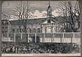 The Royal Hospital, Chelsea; the north facade with a tempora Wellcome V0012937.jpg