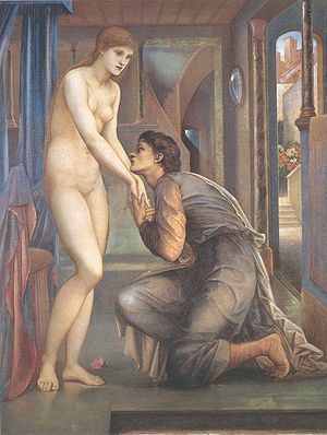 Pygmalion and the Image series - The Soul Attains, 2nd Series, H.99.4 cm x W.76.6 cm (1878)