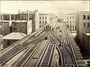 Metropolitan main line (CTA) - The four tracks of the Metropolitan Main in 1895